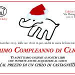 Invito Festa Natale a Clichy - 7 dicembre- Edizioni Clichy